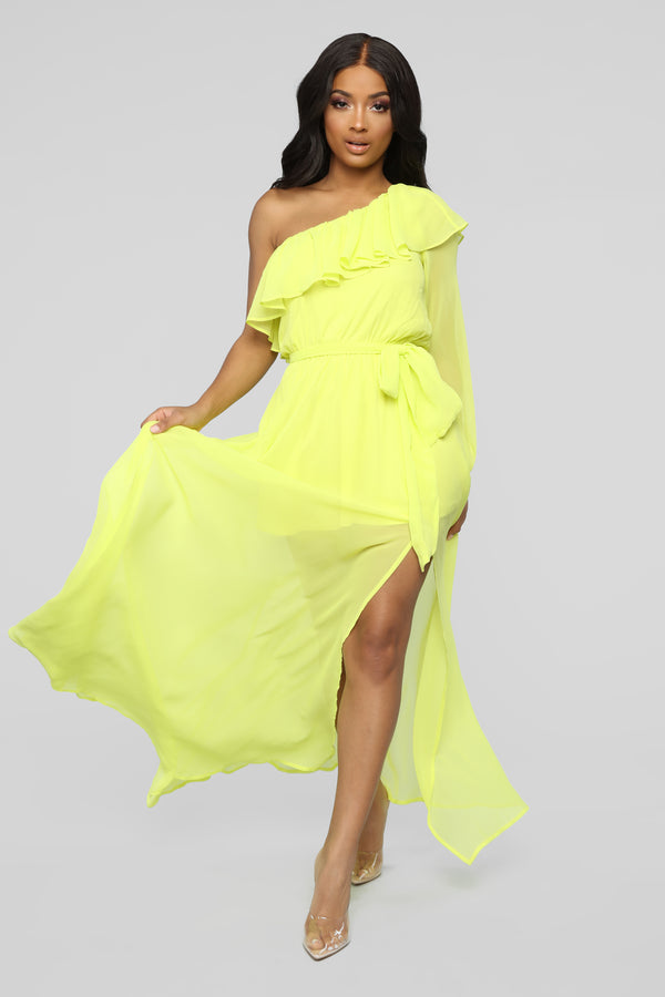fd7b01c5f8 Feeling Fun Off Shoulder Maxi Dress - Yellow