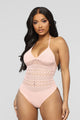 Attention On Me Bodysuit - Blush