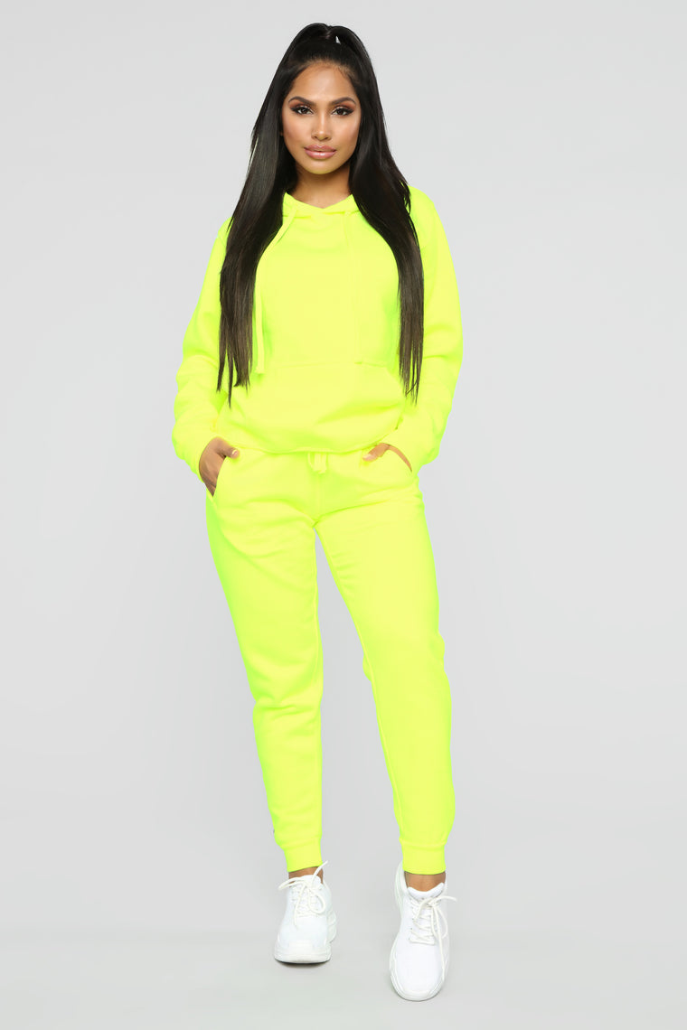 Stole Your Boyfriend's Oversized Hoodie - Neon Yellow