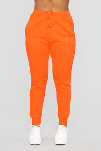 Stole Your Boyfriend's Oversized Jogger - NeonOrange