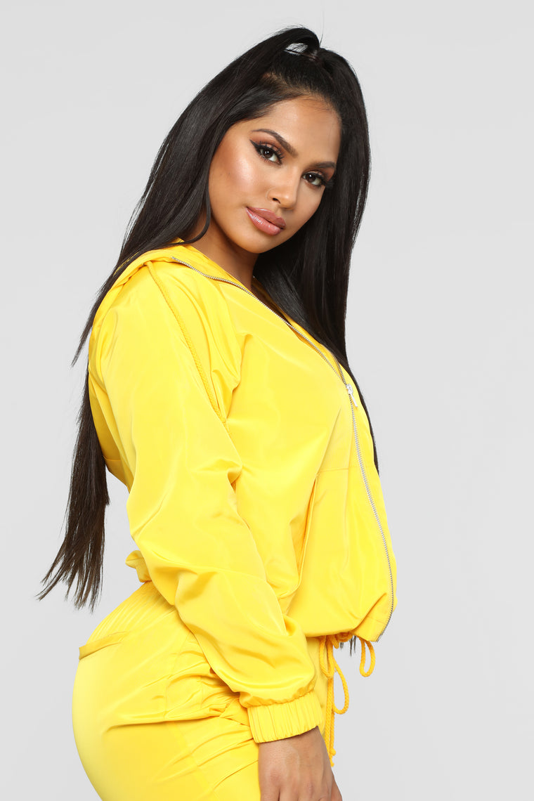 Come On Over Windbreaker Jacket - Yellow