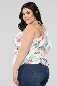 Floral Mind Top - White/Multi