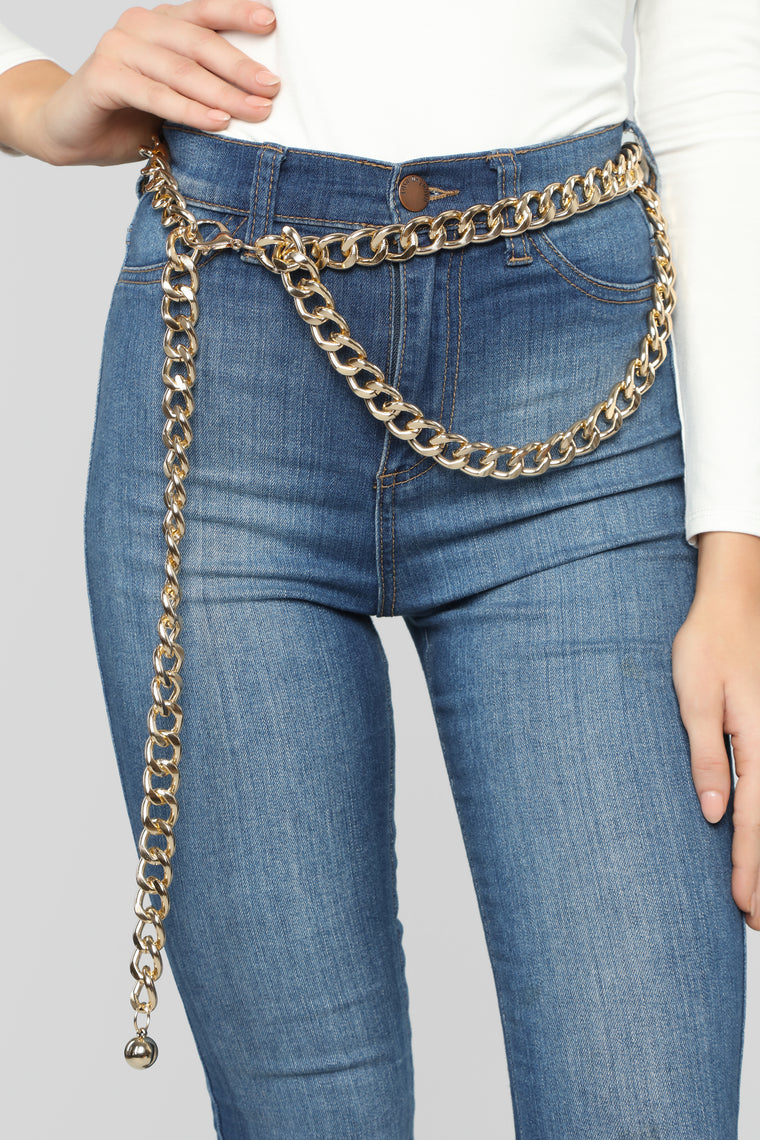 He Linked At Me Belt - Gold