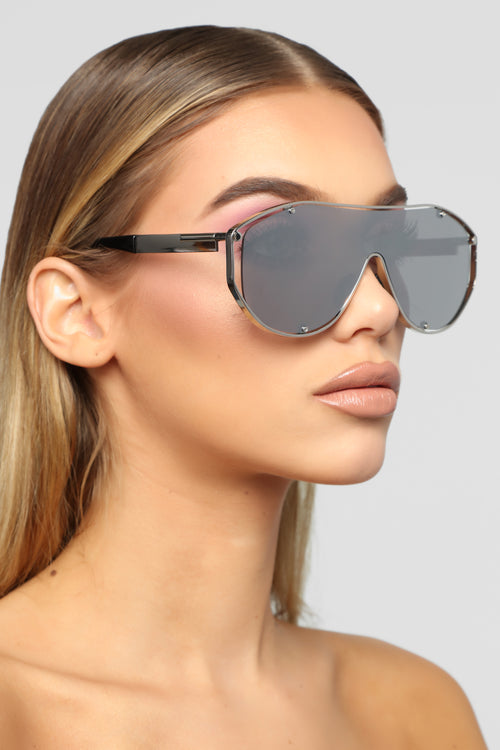 Feelings On Safety Sunglasses - Silver 6136339513