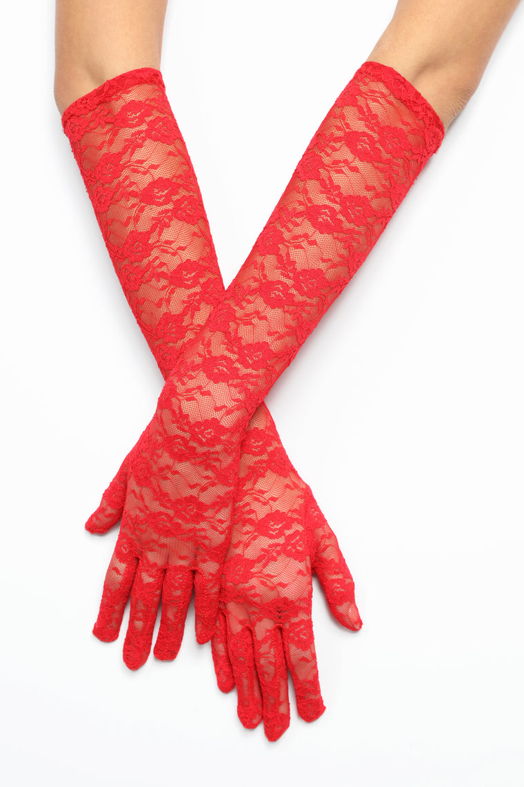 Cater To You Gloves - Red