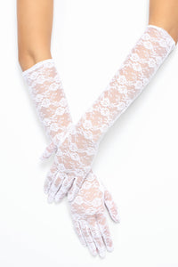 Cater To You Gloves - White