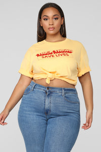 Thick Thighs Tunic Top - Mustard