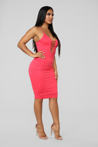 More Than You Know Midi Dress - Coral