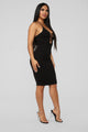 More Than You Know Midi Dress - Black