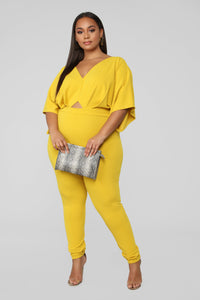 You're My Spring Fling Jumpsuit - Yellow