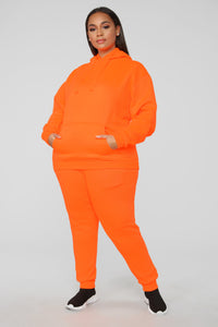 Stole Your Boyfriend's Oversized Jogger - NeonOrange Angle 8