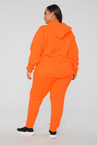 Stole Your Boyfriend's Oversized Jogger - NeonOrange Angle 12