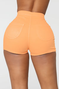 Change Your Mind Shorts - Peach