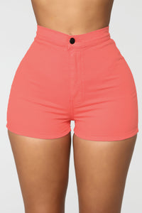 Change Your Mind Shorts - Coral