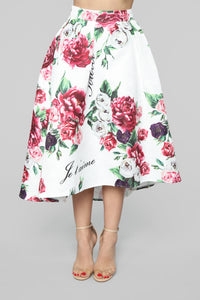 L'Amore Floral Skirt Set - White/Combo