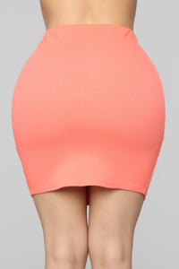 Don't Push My Buttons Skirt Set - Coral Angle 8