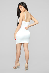 See Me In The Club Mini Dress - White