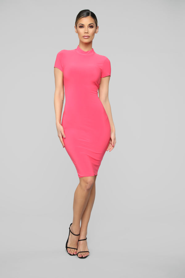 07708803875 Miss Your FN Body Midi Dress - Coral