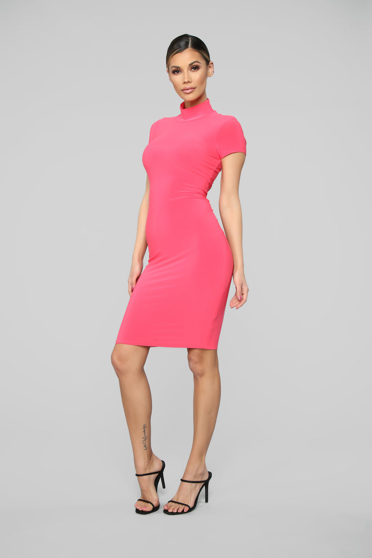 Miss Your FN Body Midi Dress - Coral