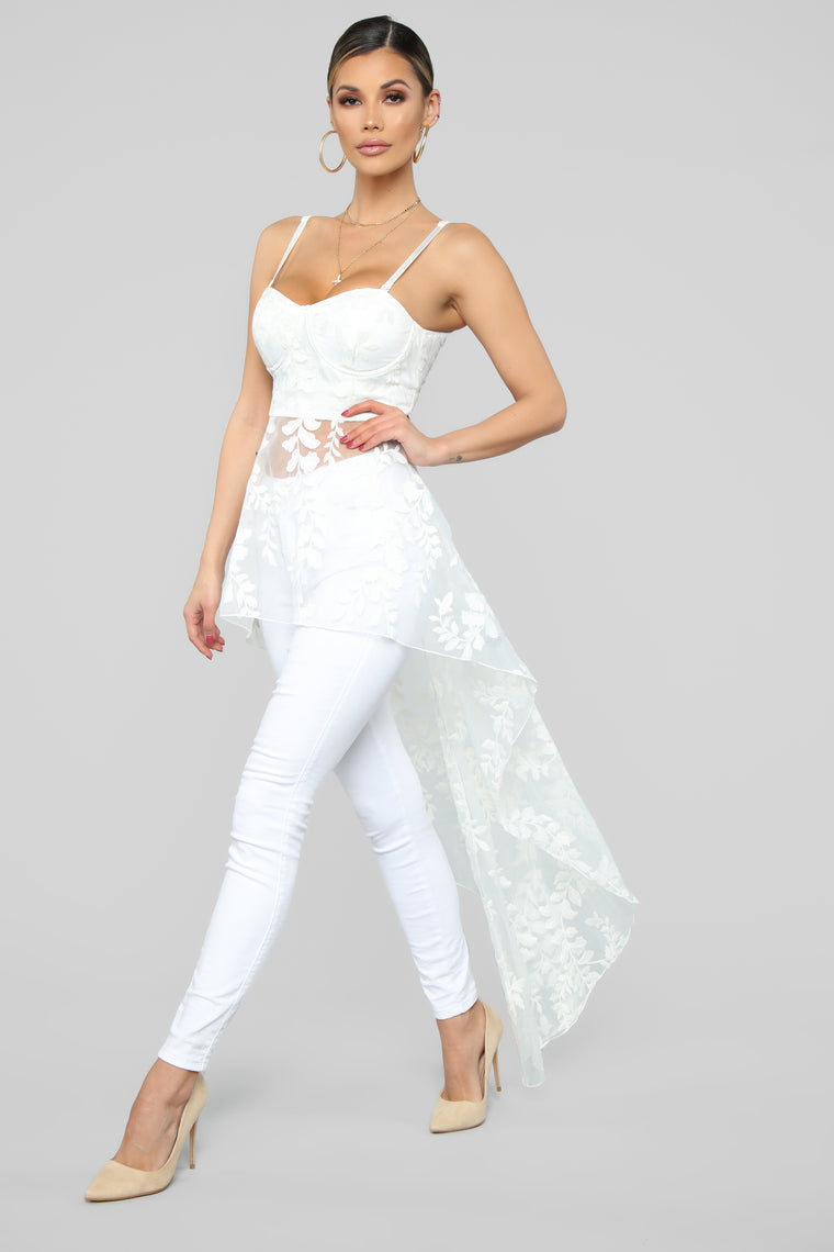 Just A Touch Of Class Top - White