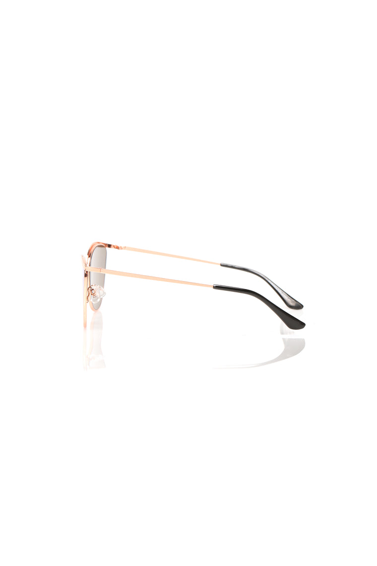Caught Off Guard Sunglasses - Rose Gold/Blue