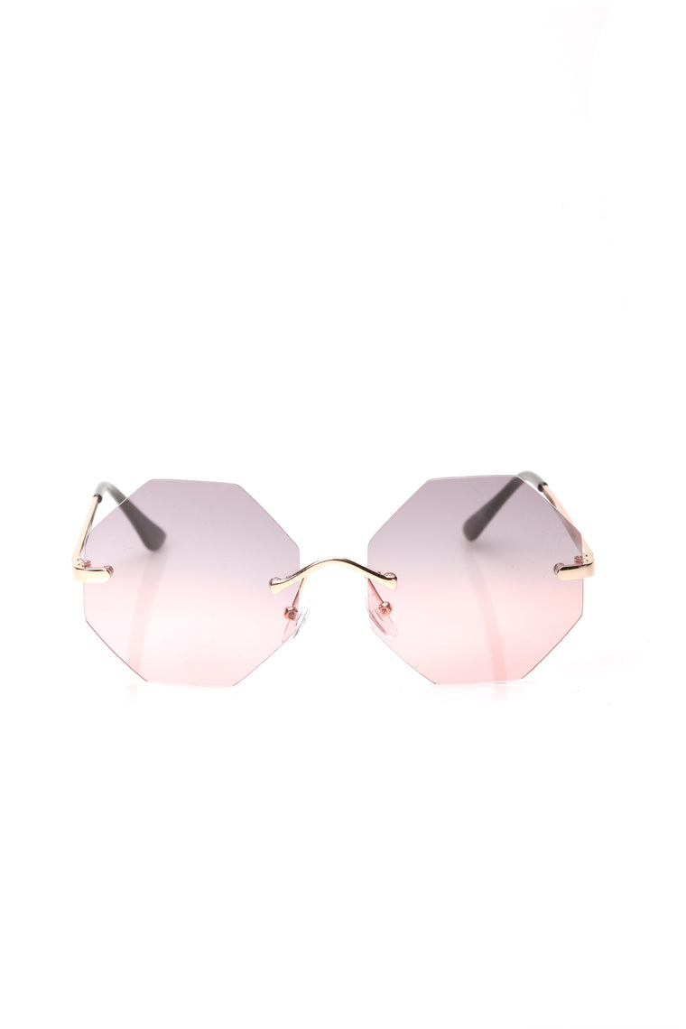 Sweeter Than Sugar Sunglasses - Grey/pink