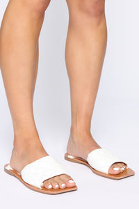 Hottest Spot Flat Sandals - White Angle 1