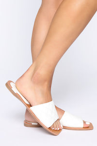 Hottest Spot Flat Sandals - White Angle 2
