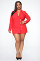 Boss Lady Blazer Dress - Red