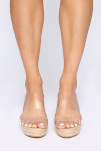 Treat Me Right Wedges - Nude Angle 2