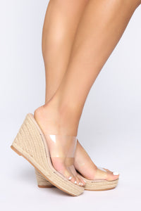 Treat Me Right Wedges - Nude Angle 1