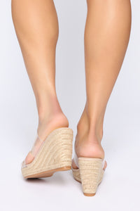 Treat Me Right Wedges - Nude Angle 4