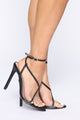 Cheers To Me Heeled Sandal - Black