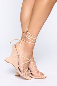 Girl's Trip Wedges - Nude Angle 1