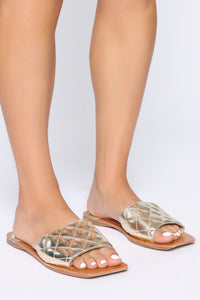 Hottest Spot Flat Sandals - Gold Angle 1