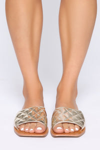 Hottest Spot Flat Sandals - Gold Angle 2