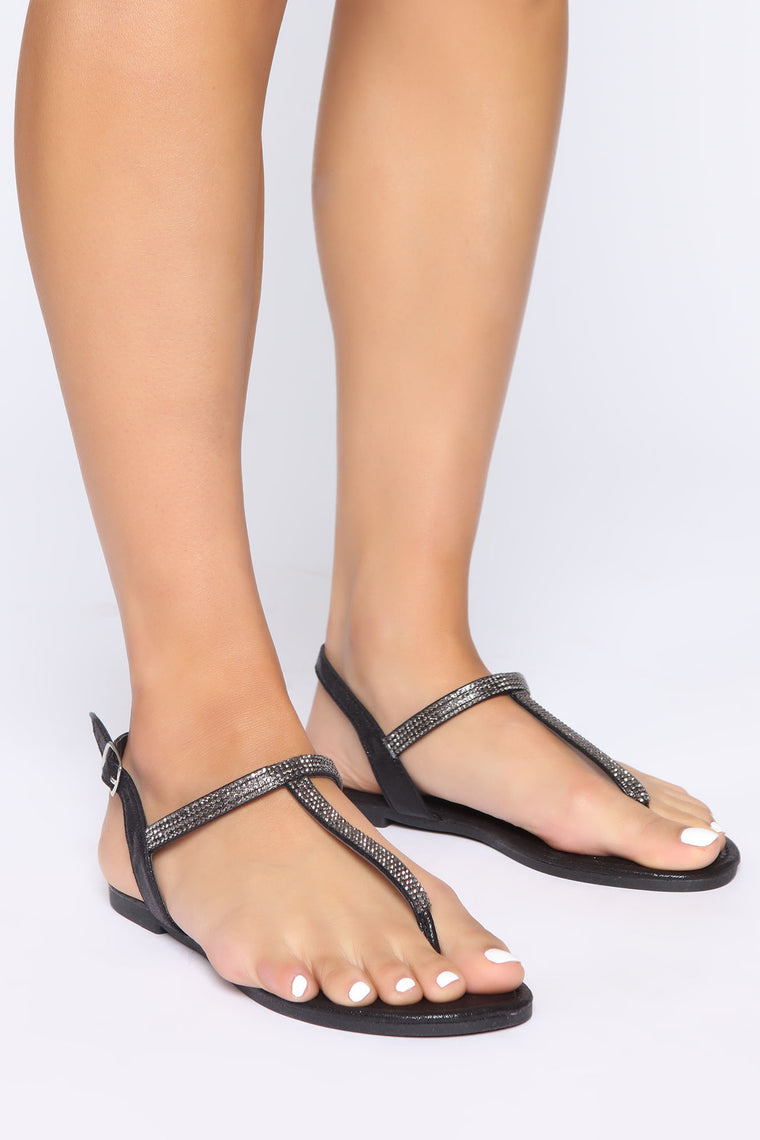 Love Me Better Flat Sandal - Black