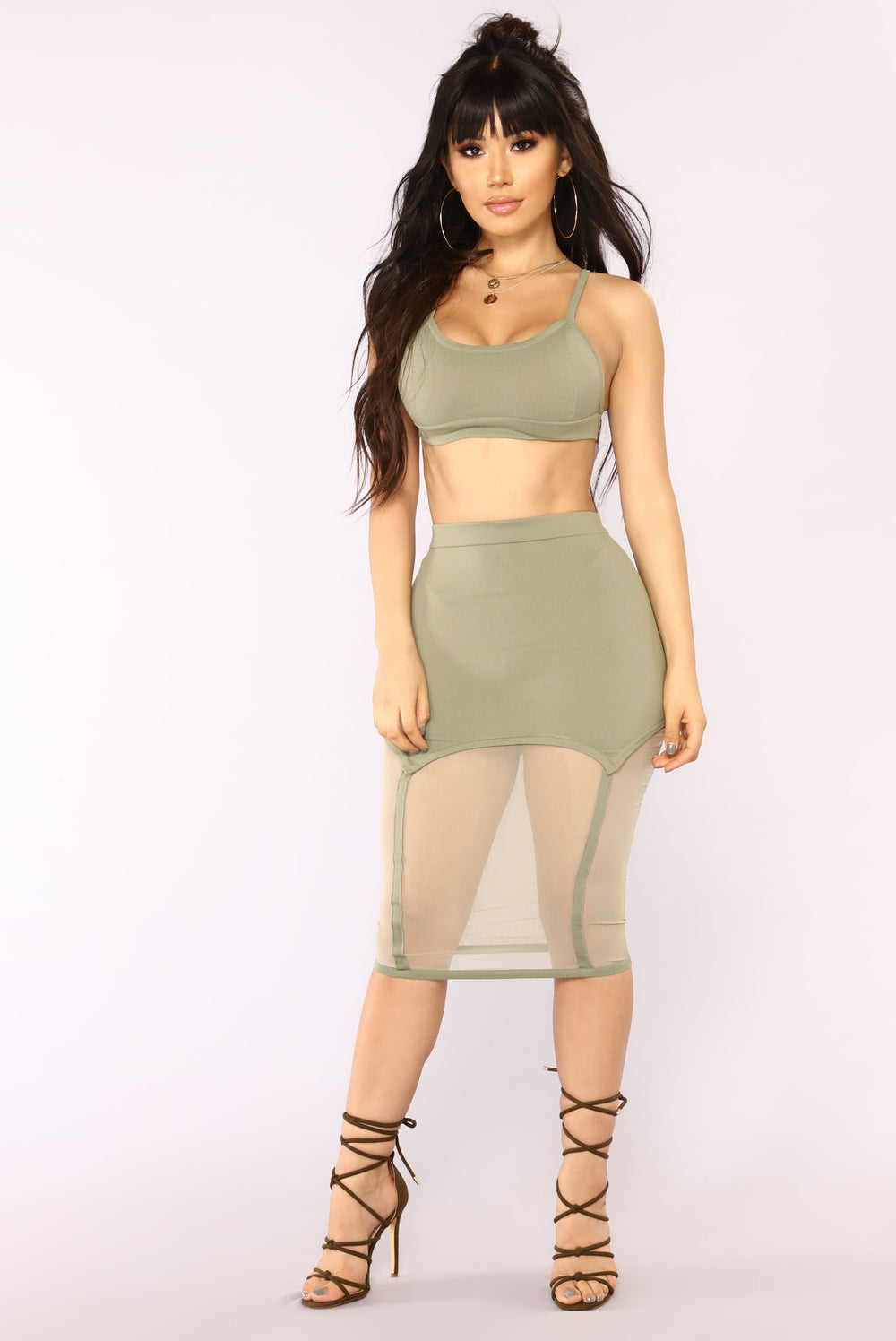 Out For The Night Bandage Set - Olive