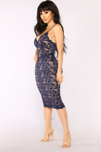 All About Me Midi Dress - Navy Angle 3