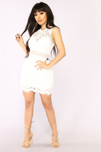 Brisa Lace Dress - Off White