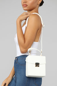 Lock The Box Crossbody Bag - White Angle 2