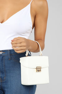 Lock The Box Crossbody Bag - White Angle 3