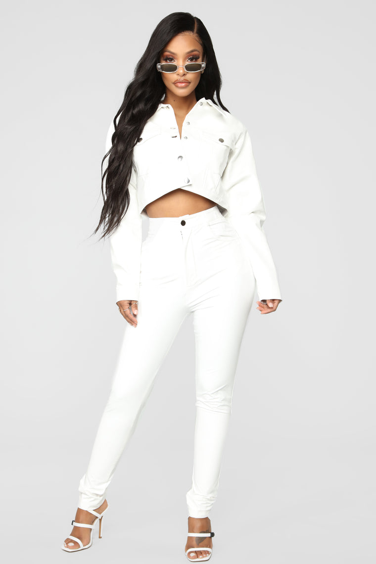 Anything Faux You Jacket - White