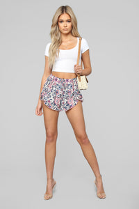 Walking In The Meadow Shorts - Ivory Angle 1