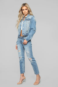 All You Need Denim Jacket - Bleach Blue Wash Angle 4