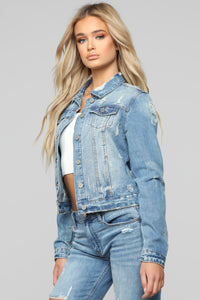 All You Need Denim Jacket - Bleach Blue Wash Angle 3