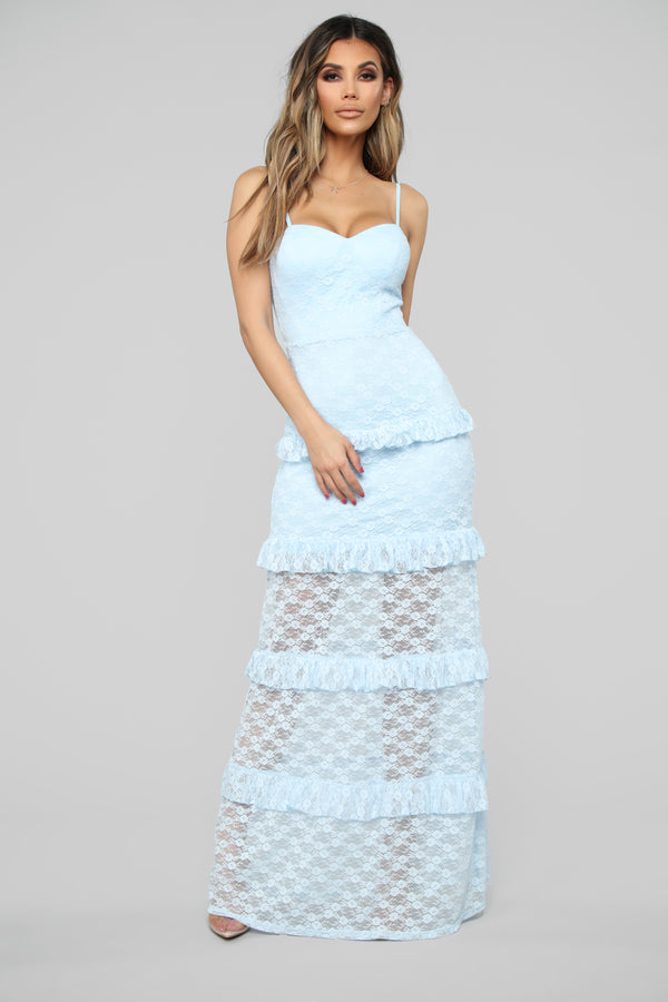 6894ab9c7 Dropping Looks Lace Maxi Dress - Light Blue