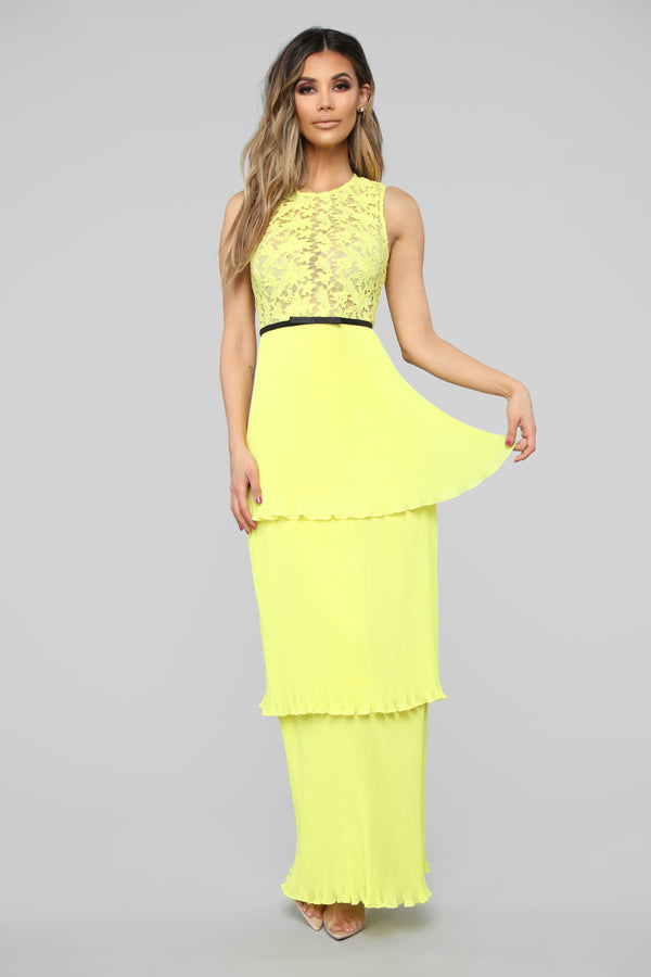 a3244b4ed7c093 Tiers Of Joy Chiffon Maxi Dress - Yellow