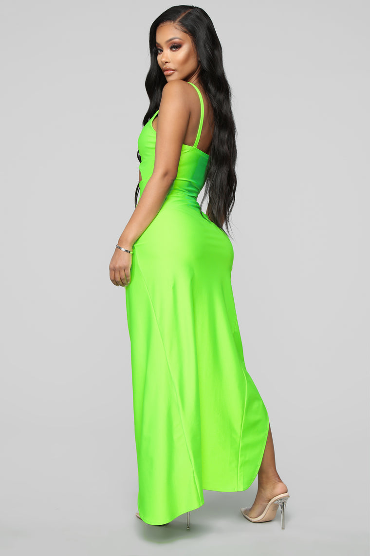 The IRL Skirt Set - Neon Lime