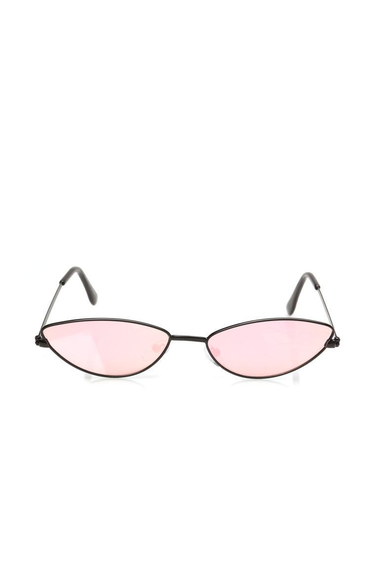 Crashing Down Sunglasses - Black/Pink